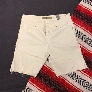 Zara White Jean Shorts